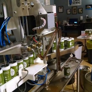 Big Lake Brewing Canning in Progress.
